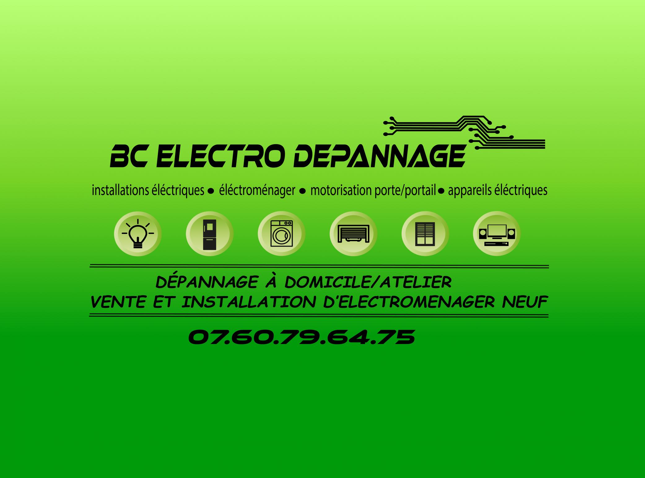 Logo BC ELECTRO DEPANNAGE installation de système de chauffage électrique Gard 30