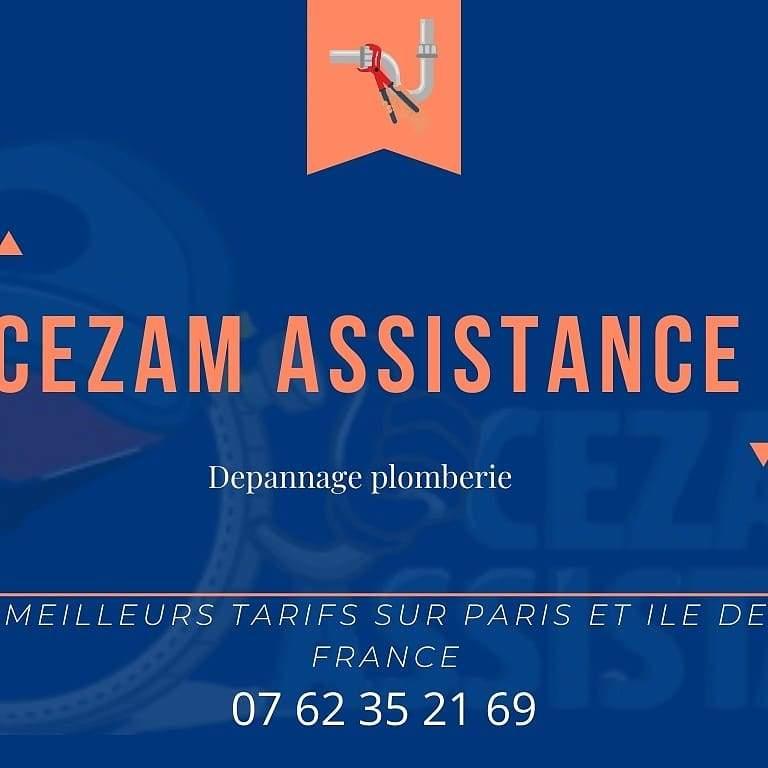 Logo Cezam assistance installation de chauffe-eau et ballon d'eau chaude Paris 75017