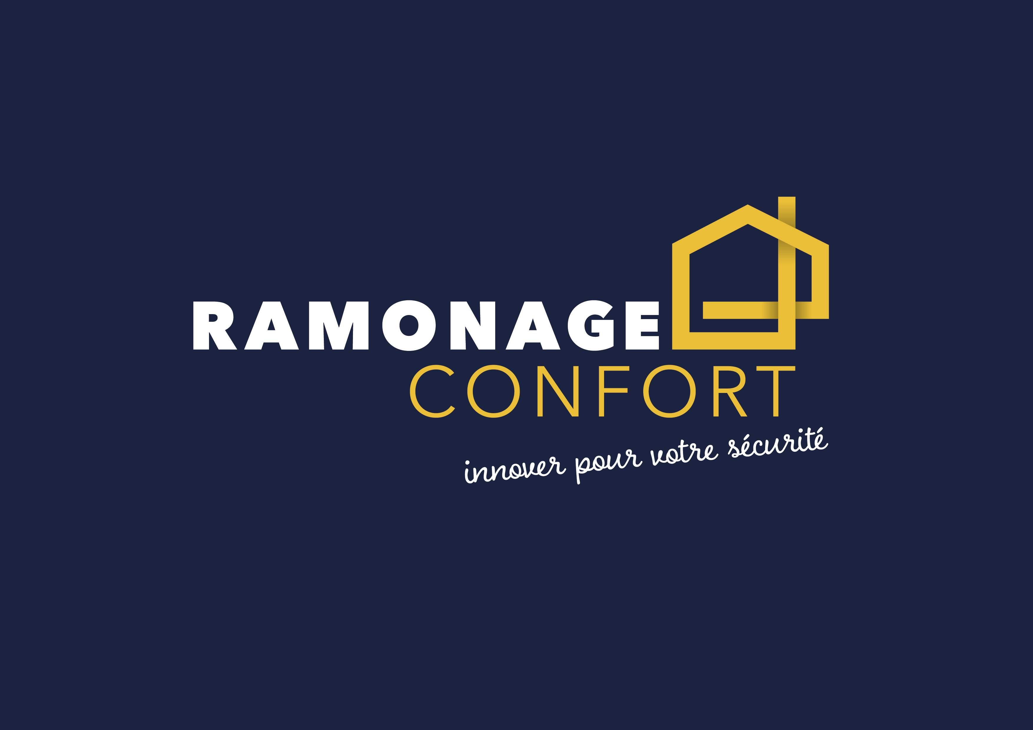 Logo RAMONAGE CONFORT installation de poêle à bois, granulés ou pellet Loire-Atlantique 44